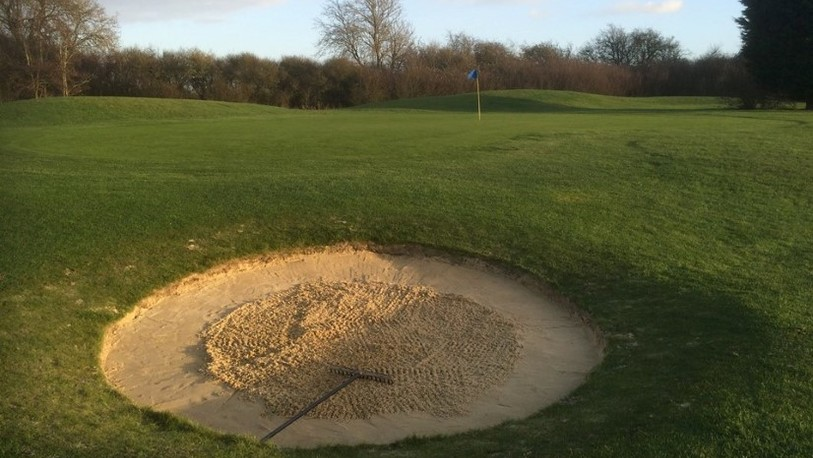 Baroness course greenside bunker