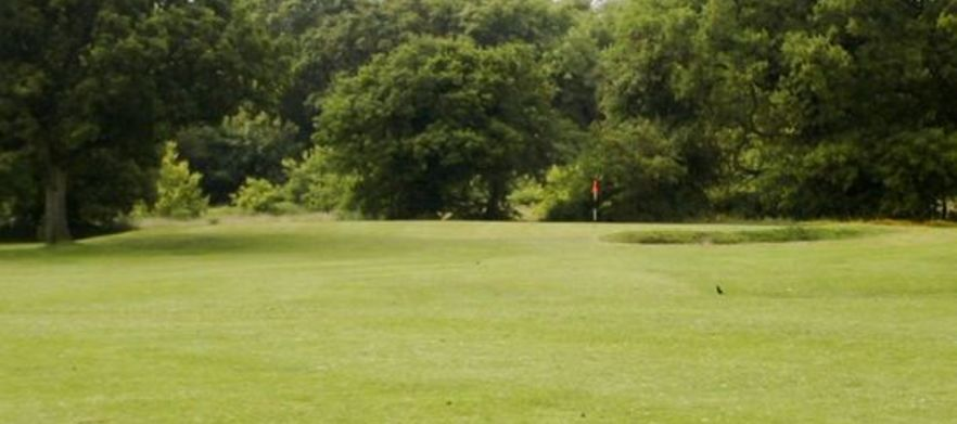 View of green and bunker ingol golf village