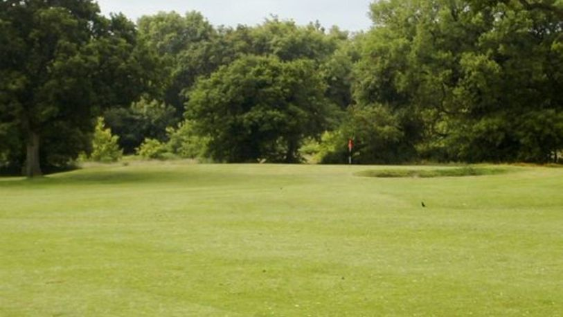 View of green and bunker ingol golf village %281%29